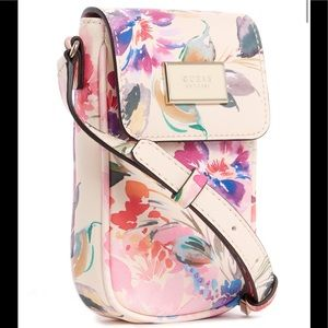 Guess NWT iphone pink wallet crossbody purse SALE
